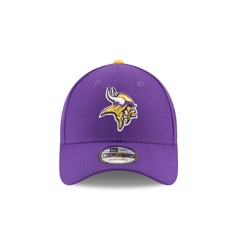f5f0a42b NEW ERA MINNESOTA VIKINGS BASEBALL CAP.9FORTY NFL LEAGUE ESSENTIAL PURPLE  HAT 33